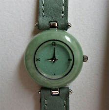 Peyote Bird Designs Jade Green Watch Leather Strap France Stainless Steel Back