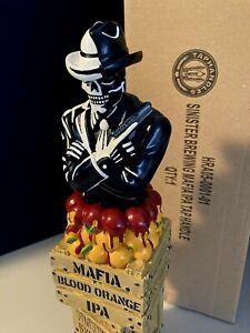 SINISTER BREWING Beer Tap Handle lot Mafia Blood Orange Skull Skeleton Pabst Lot