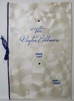 Vintage 1935 The Dayton Ohio Biltmore The Kitty Hawk Hotel Wine List Menu