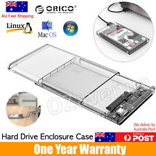 "ORICO 2139U3 USB 3.0 Transparent 2.5"" SATA SSD HDD Hard Drive Enclosure Case"