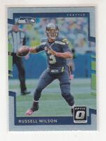 RUSSELL WILSON 2017 Panini Donruss Optic Silver Prizm Parallel #6 Seahawks Mint