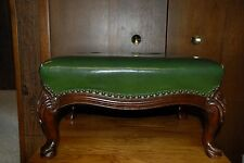 Antique Mahogany Queen Foot Stool or Foot Rest