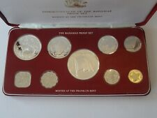 COMMONWEALTH OF THE BAHAMAS 1976 SILVER PROOF COIN SET, 9 COINS, CASED & COA