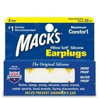 Mack's (Macks) Pillow Soft Silicone Earplugs x 2 Pairs