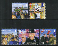 Guernsey 2005 World War Ii-Attractive Military History Topical (855-59) Mnh