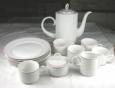 Freiberger Porzellan Diamant Porcelain Set - 19 pieces - Coffee Pot, Plates, etc