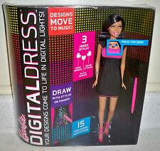 BARBIE DIGITAL DRESS Electronic Barbie Doll Nikki Pink & Black Dress New