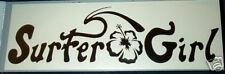 "Surfer Girl Surfborad Sticker, Decal, approx. 12"" x 4"""
