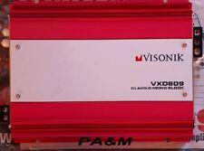 VISONIK VXD609 600 1 CH MONO CLASS D CAR AMPLIFIER NEW