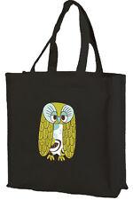 Owl Cotton Shopping Bag, Grandad Owl, Choice of Colours