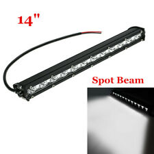 14inch 6500K White 120W Slim LED Light Bar Spot Beam For Offroad SUV ATV 4WD