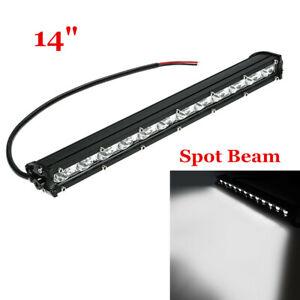 14inch 6500K White 120W Slim LED Light Bar Spot Beam For Offroad SUV ATV 4WD