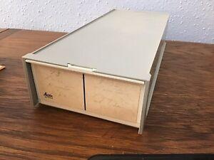 Lot Of 8 Leitz 35mm Slide Trays & Case- 2 Trays For 100 Slides 800 Slides Total