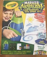 "Crayola Marker Airbrush ""Turn Markets Into Spray Art!"" Ages 6+ NIB. (MCL)"