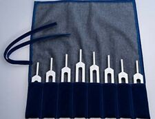 Healing Tuning Forks Harmonic Spectrum Set of 8. Pythagorean Scale in pouch