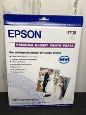 "Epson Premium Glossy Photo Paper 8.5"" x 11"" 20 sheets"