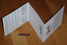 Gibson Les Paul COA Case Candy Checklist Flyer Card Guitar Parts SG Certificate