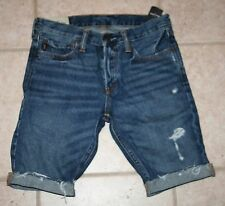 NWT Abercrombie Boys Size 14 The a&f Skinny Jean Cuffed Shorts