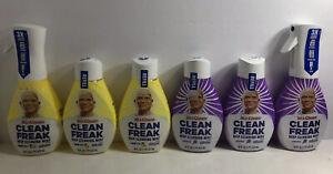 Mr Clean Freak Deep Cleaning Mist Lemon Zest & Lavender Spray & Refills Lot Of 6