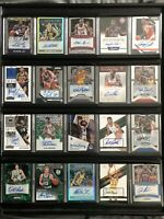 20 Card Auto Lot w/ Display: Russell, Barkley, Ewing, Magic, Kareem, Bird + More