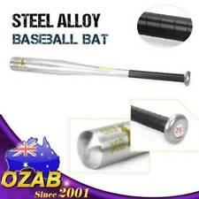 """25"""" Steel Alloy Silver Baseball Bat Racket Softball Outdoor Sports Lightweight"""