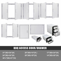 Stainless Steel Double Single Doors Access Door Drawer for Kitchen Islands BBQ
