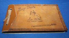 Vintage old photo album Petrified Forest Arizona