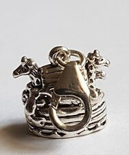clip on NOAH'S ARK sterling silver charm charms pendant 3d Religious European