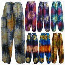 Ladies Harem Pants Baggy Bohemian Aladdin Genie Boho Yoga Hippy Tie Dye Trousers