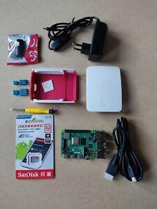 Raspberry Pi 4B 4GB + Starter kit boitier alim 32GB µSD dissipateur sans clavier