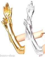 Finger Handschuhe ca. 44 cm lang Farbenwahl: Metallic Gold oder Silber One Size