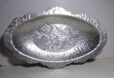Rodney Kent Hand Wrought Aluminum Tulips Scalloped Bread Tray # 406