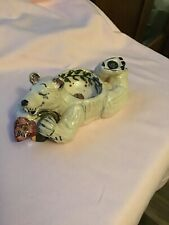 Blue Sky Clayworks Pottery White Polar Bear Figurine Dish Heather Goldminc