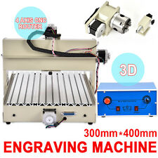 CNC Router Engraver 4 AXIS Engraving Drilling Milling Machine Desktop 3040 USA