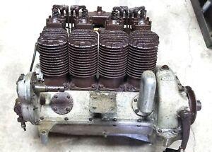 1917 Henderson Detroit Heath Airplane Motor KJ Excelsior Engine Deluxe K Engine