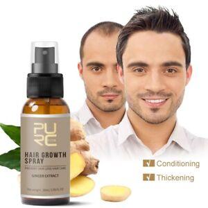 Falling Hair Oil Spray Ginger Thickening Serum Strengthen Weak Hair Growth Spray
