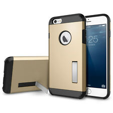 Tough Armor Hybrid Case Cover With Kickstand For iPhone 6/6S 4.7 inch (Gold)