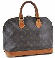 Authentic Louis Vuitton Monogram Alma Hand Bag M51130 LV B2461