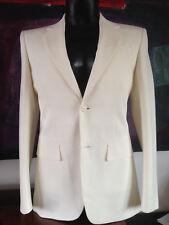 NEW (£535) BLK DNM NYC WHITE/IVORY BLAZER 3 SPORTS COAT JACKET UK SIZE 40