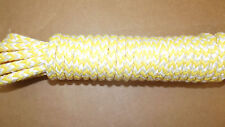 8mm (5/16) x 28' Mainsheet Line,  12-Strand Braided Sail Line, Boat Rope - NEW