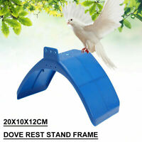 10PC Pigeon Dove Bird Rest Stand Frame Dwelling Perches Roost Bird Supplies Blue