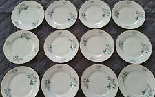 (12) WINTERLING CHINA WEDDING ROSE SALAD PLATES  MINT GOLD TRIM  BAVARIA