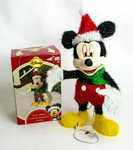 "24"" Lighted Iridescent Mickey Mouse Sculpture Christmas Decor Disney"