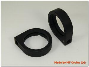 Blinkerhalter 39mm Gabelholme Telegabel Blinkeraufnahme M10x1,25 Gewinde schwarz