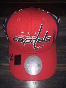 Men's Washington Capitals Reebok Navy & Red Center Ice Draft Structured Hat S/M