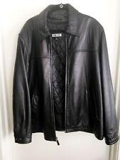 Tibor Mens Full Zip Leather Jacket Size XL