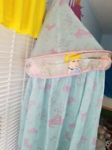 Disney Princess Cinderella Canopy Marshmallow Kids Room Bed Curtain Playroom HTF