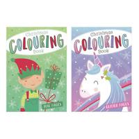 Children's Christmas Colouring Book 2 Designs Unicorn Or Elf Great Kids Xmas Fun