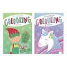 Niños Navidad Libro para Colorear 2 Diseños Unicornio O Elfo Gran Divertido