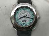 Vintage Watch Benetton by Bulova Analog Leather Band Wrist Watch Water Resistant